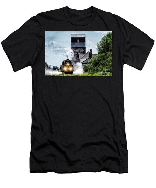 Big Valley Steam Men's T-Shirt (Slim Fit) by Brad Allen Fine Art