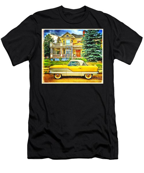 Big Yellow Metropolis Men's T-Shirt (Athletic Fit)