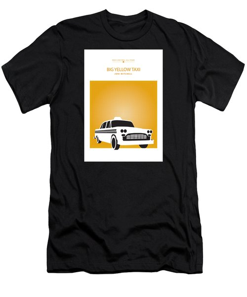 Men's T-Shirt (Slim Fit) featuring the drawing Big Yellow Taxi -- Joni Michel by David Davies