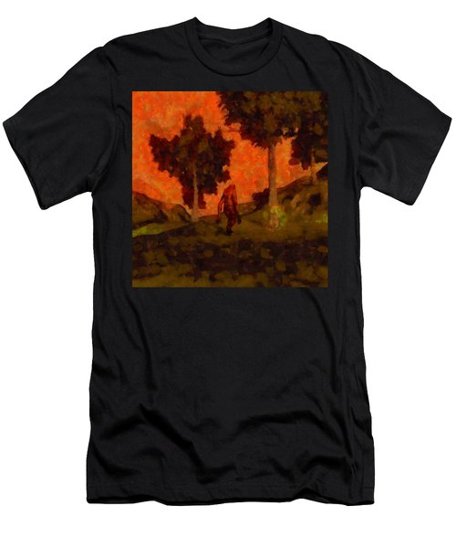 Bigfoot Wandering Men's T-Shirt (Athletic Fit)