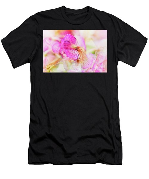Men's T-Shirt (Athletic Fit) featuring the photograph Bigleaf Hydrangea Abstract by Nick Biemans