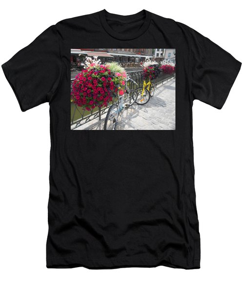 Bike And Flowers Men's T-Shirt (Athletic Fit)