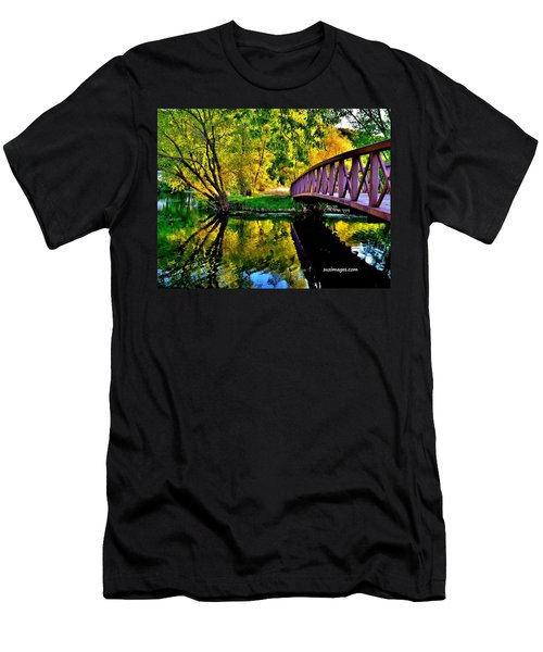 Bike Path Bridge Men's T-Shirt (Athletic Fit)