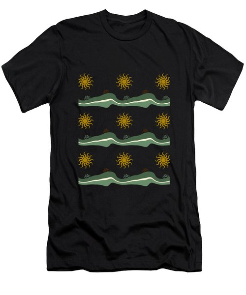 Bike Pattern Men's T-Shirt (Athletic Fit)
