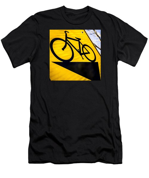 Men's T-Shirt (Slim Fit) featuring the photograph Bike Sign by Wade Brooks