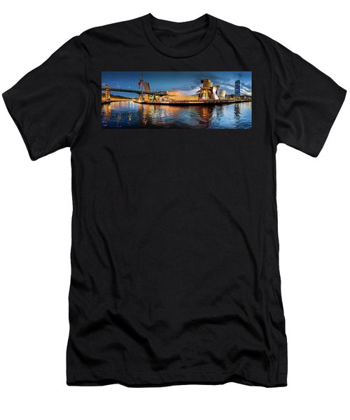 Bilbao Guggenheim Men's T-Shirt (Slim Fit) by Marty Garland