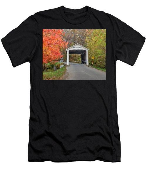 Billie Creek Covered Bridge Men's T-Shirt (Athletic Fit)