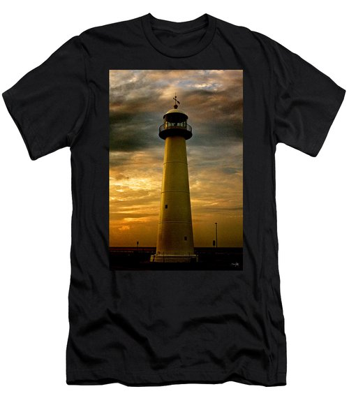 Biloxi Lighthouse - Sunrise Men's T-Shirt (Athletic Fit)
