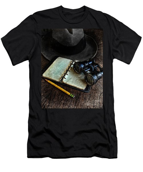 Binoculars Fedora And Notebook Men's T-Shirt (Athletic Fit)