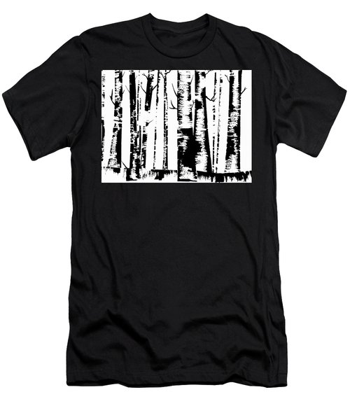 Birch Forest Black Men's T-Shirt (Athletic Fit)