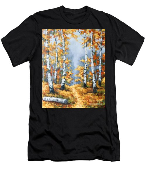 Birch Forest Path Men's T-Shirt (Athletic Fit)