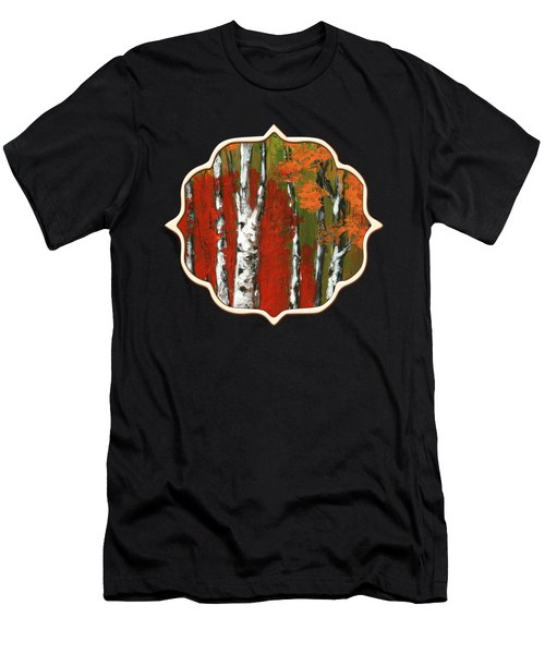 Birch Trees In An Autumn Forest Men's T-Shirt (Athletic Fit)