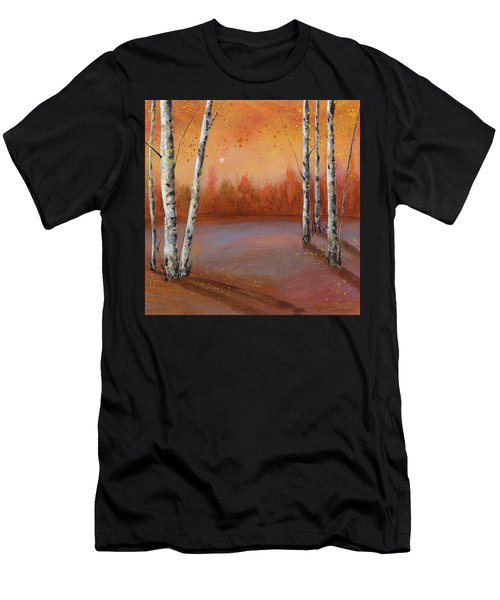 Birches In The Fall Men's T-Shirt (Athletic Fit)