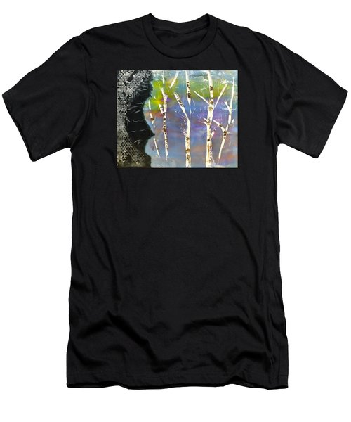 Birches In Wax Men's T-Shirt (Athletic Fit)