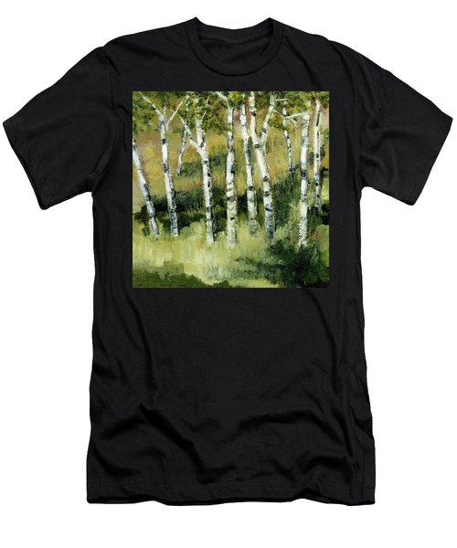 Birches On A Hill Men's T-Shirt (Athletic Fit)