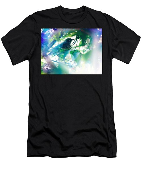 Bird And Blue Men's T-Shirt (Athletic Fit)