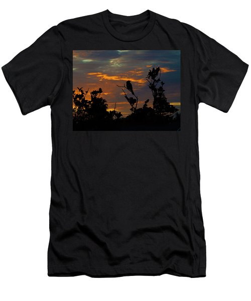 Bird At Sunset Men's T-Shirt (Slim Fit) by Mark Blauhoefer