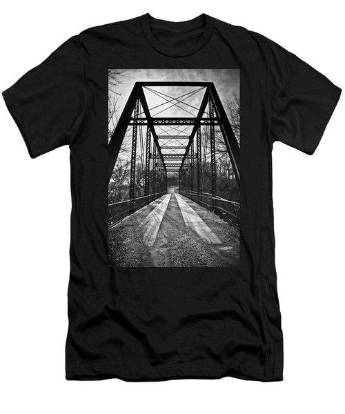 Bird Bridge Black And White Men's T-Shirt (Athletic Fit)