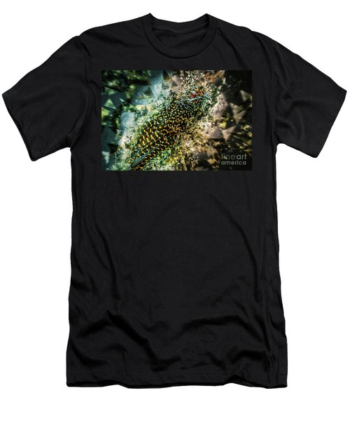 Men's T-Shirt (Athletic Fit) featuring the digital art Bird Meets Glass by Ray Shiu