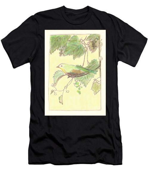 Bird On A Branch Men's T-Shirt (Athletic Fit)