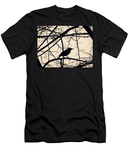 Bird Silhouette Men's T-Shirt (Slim Fit) by Sarah Loft