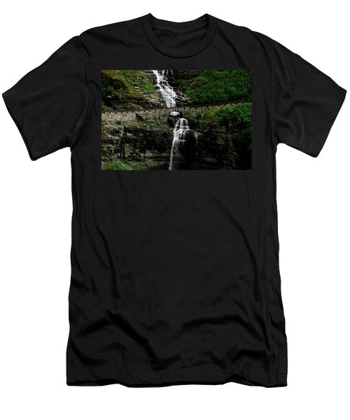 Bird Woman Falls Bridge Men's T-Shirt (Athletic Fit)
