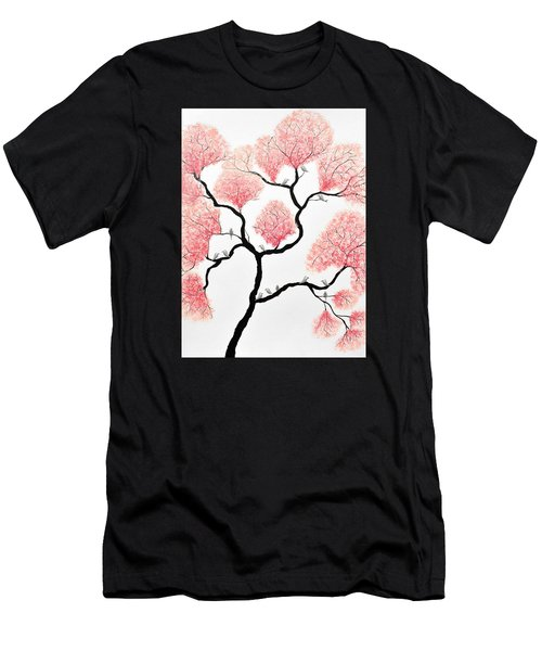 Birds And Flowers Men's T-Shirt (Athletic Fit)