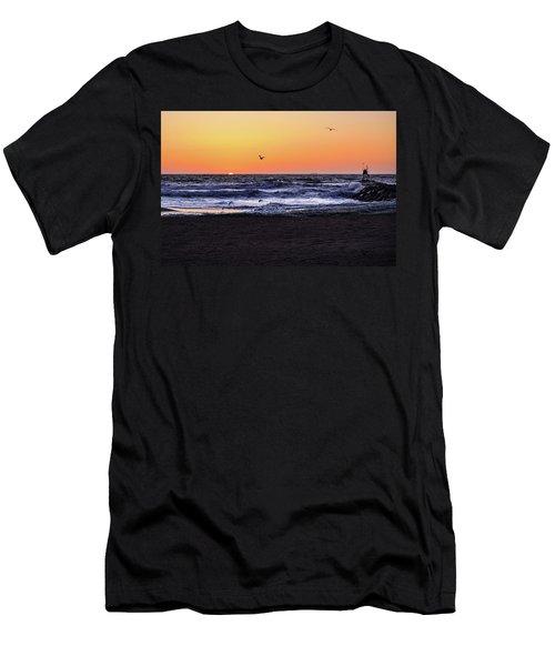 Birds At Sunrise Men's T-Shirt (Athletic Fit)