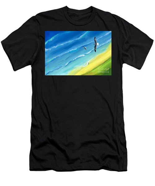 Bird's-eye Above Sea Men's T-Shirt (Athletic Fit)