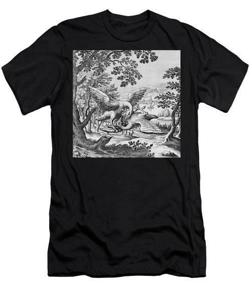 Birds Fighting From Musaeum Hermeticum, 1678 Men's T-Shirt (Athletic Fit)