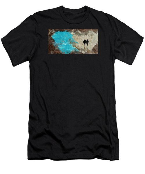 Birds On A Wire II Men's T-Shirt (Athletic Fit)