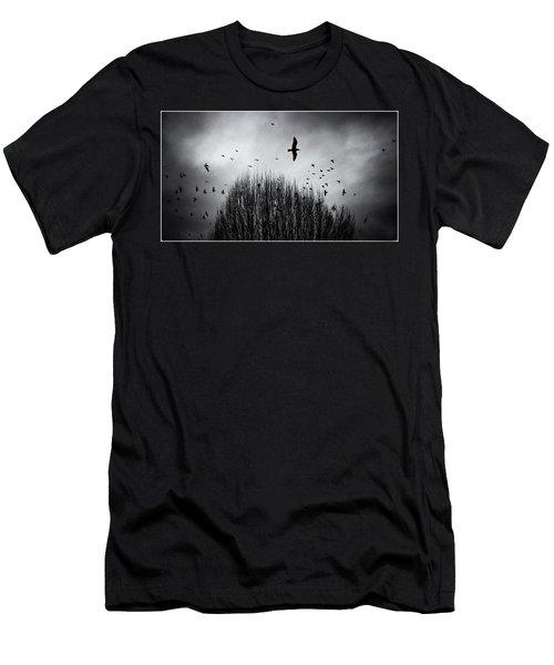 Birds Over Bush Men's T-Shirt (Athletic Fit)