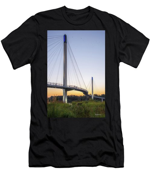 Birds Soaring Over Bob Kerry Bridge Men's T-Shirt (Athletic Fit)