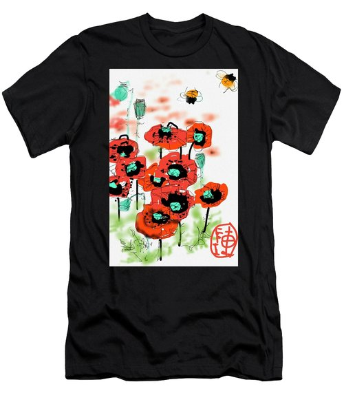 Birthday Field Of Flowers  Men's T-Shirt (Athletic Fit)