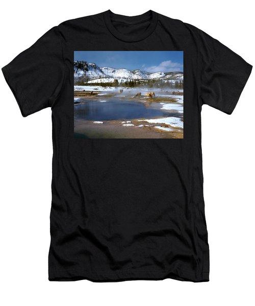 Biscuit Basin Elk Herd Men's T-Shirt (Athletic Fit)