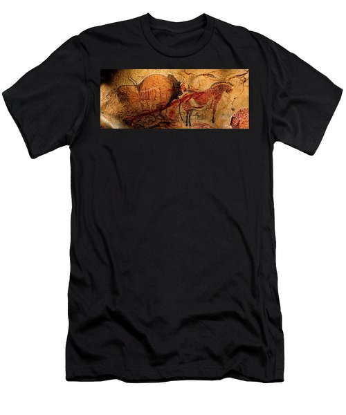 Bison Horse And Other Animals Closer - Narrow Version Men's T-Shirt (Athletic Fit)