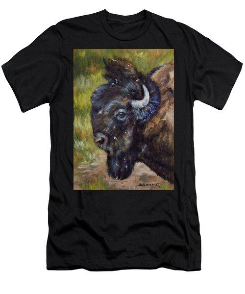Bison Study 5 Men's T-Shirt (Athletic Fit)