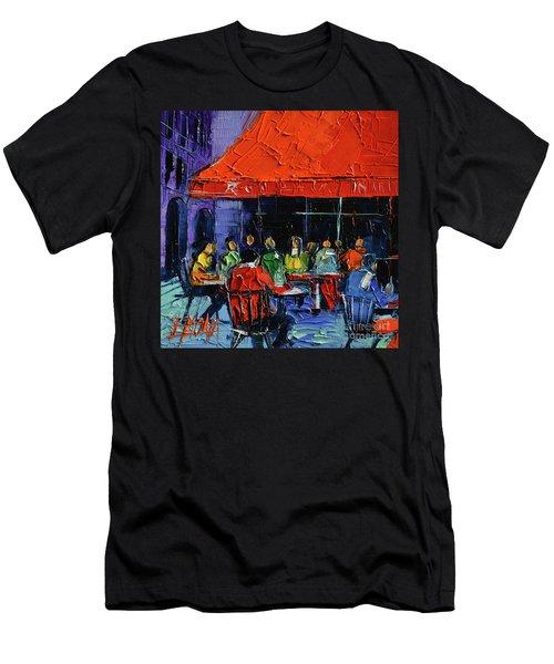 Bistrot Rouge Rendezvous Men's T-Shirt (Athletic Fit)