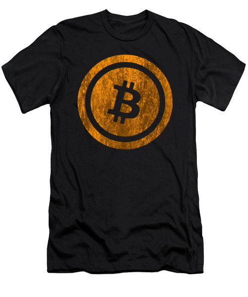 Bitcoin Vintage Logo Cryptocurrency Bitcoin Shirt Men's T-Shirt (Athletic Fit)