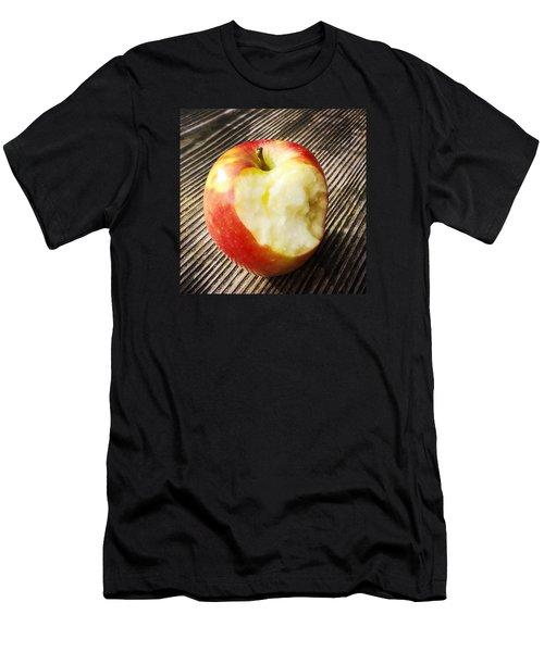 Bitten Red Apple Men's T-Shirt (Slim Fit) by Matthias Hauser