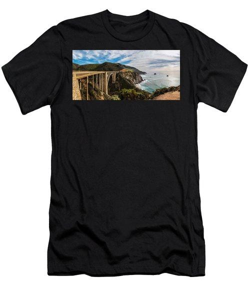 Bixby Creek Bridge Big Sur California  Men's T-Shirt (Slim Fit) by John McGraw
