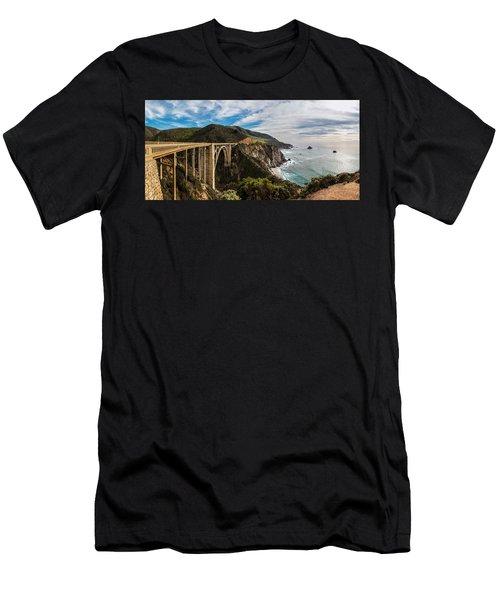 Bixby Creek Bridge Big Sur California  Men's T-Shirt (Athletic Fit)