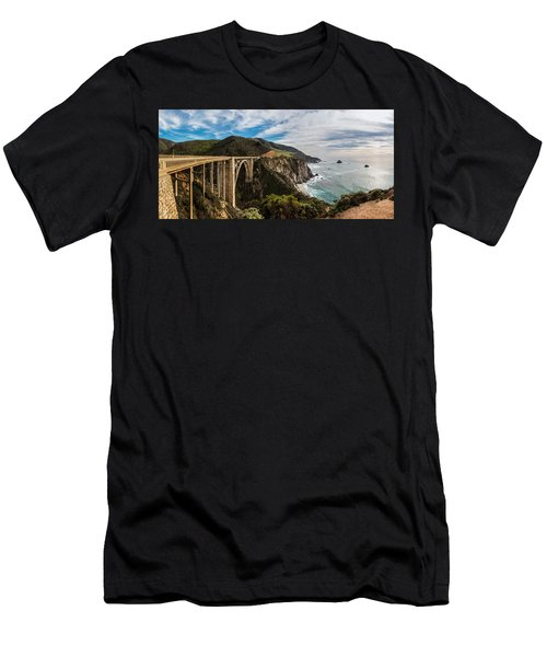 Bixby Creek Bridge Big Sur California  Men's T-Shirt (Athletic Fit)