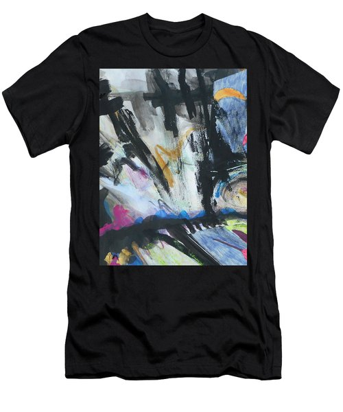 Black Abstract Men's T-Shirt (Athletic Fit)