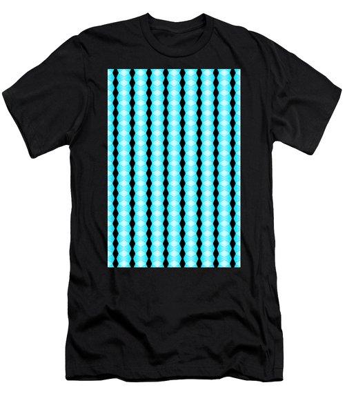 Black And Blue Diamonds Men's T-Shirt (Athletic Fit)