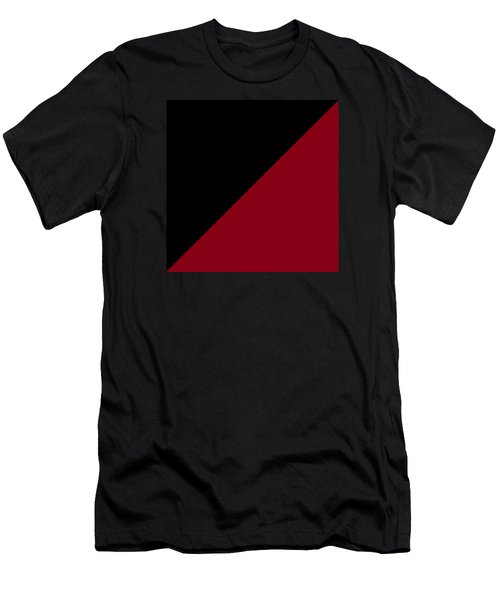 Black And Burgundy Triangles Men's T-Shirt (Athletic Fit)