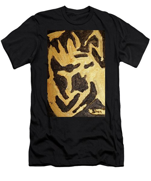 Black And Gold Mask Men's T-Shirt (Athletic Fit)