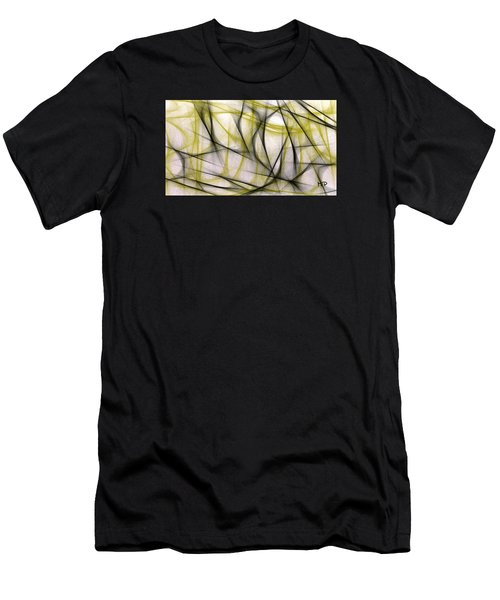 Black And Green Abstract Men's T-Shirt (Athletic Fit)