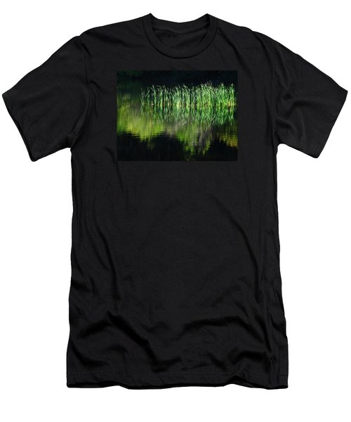 Black And Green Men's T-Shirt (Athletic Fit)