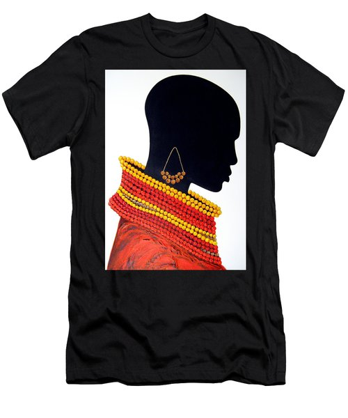 Black And Red - Original Artwork Men's T-Shirt (Athletic Fit)